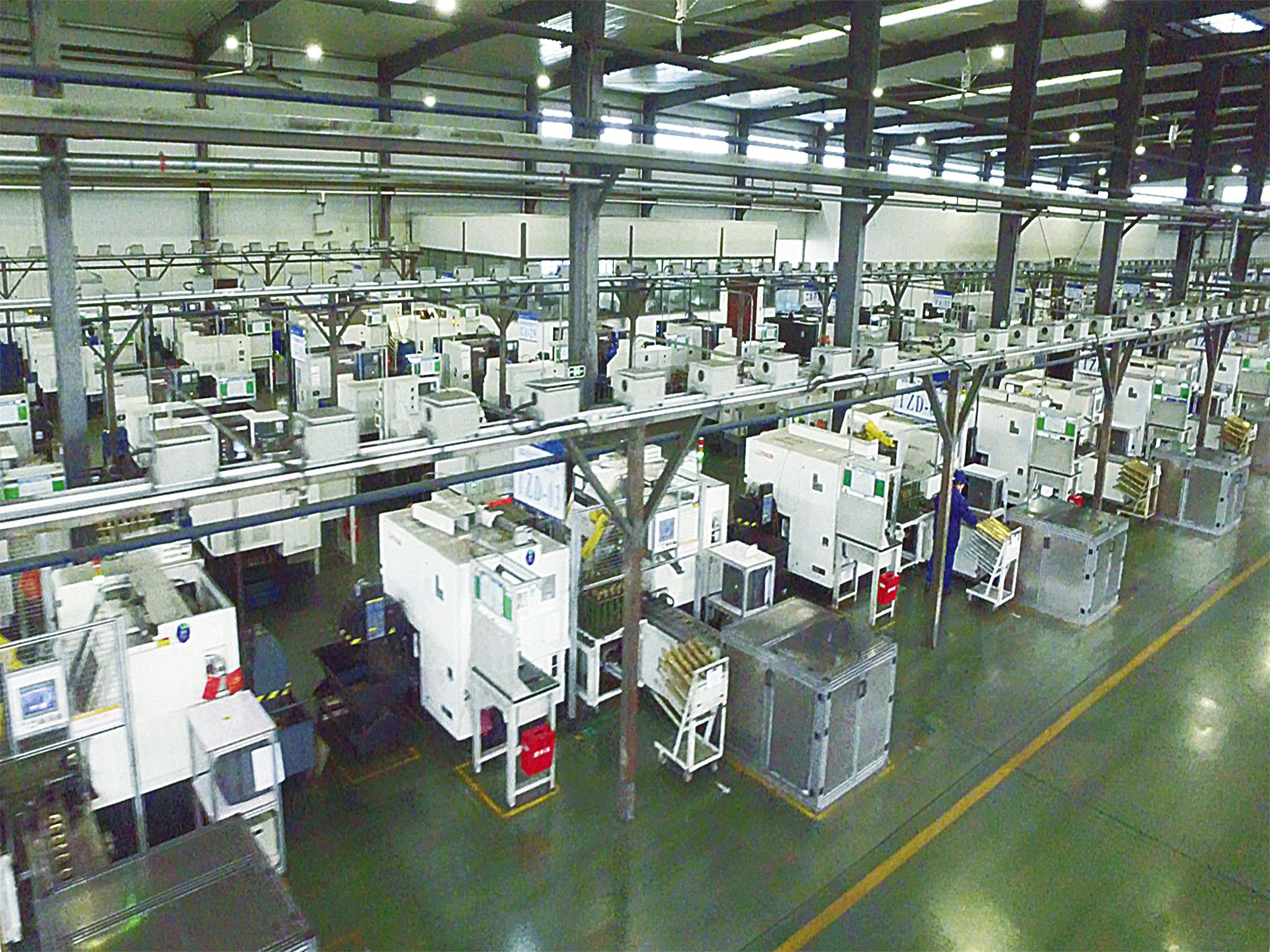 工业机器人机加生产线