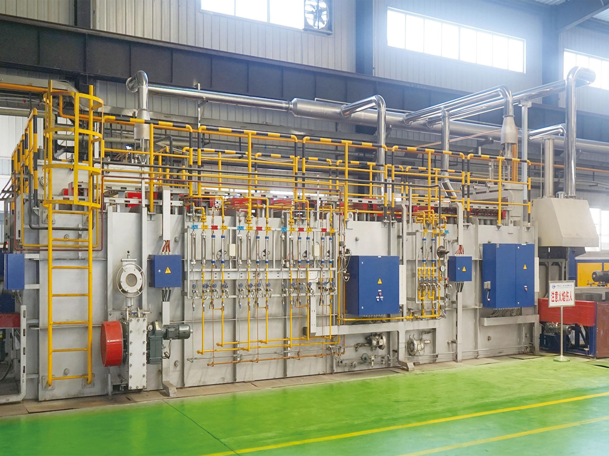 推杆式连续渗碳高压气淬炉生产线